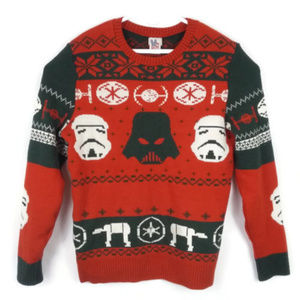junk food clothing sweaters junk food star wars ugly christmas sweater xxl - Star Wars Ugly Christmas Sweater